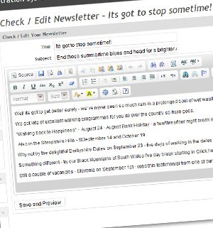 E-newsletter Systems and Client Database